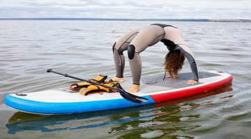 Women on Inflatable Paddle Board