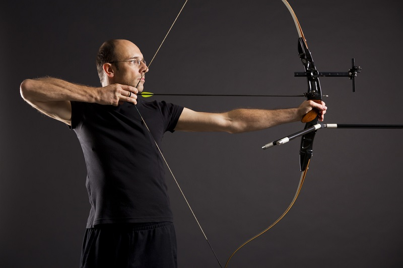 Man Aiming Bow