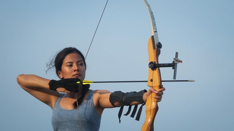 Woman Aiming Arrow